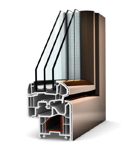 Chantier du mois fen tres pvc capot aluminium internorm for Fenetre triple vitrage aluminium