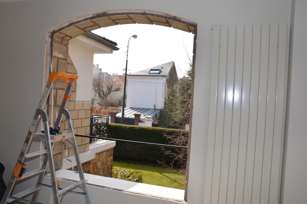 Remplacement fenêtre chantier
